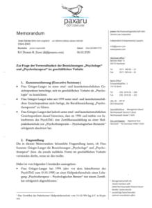 Memorandum Titel RA Jlussi